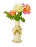 ваза роз Стоковая Фотография