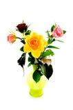 ваза роз bouqet цветастая зеленая Стоковое Изображение