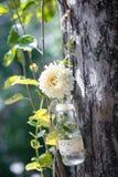 Ваза смертной казни через повешение с цветком Стоковая Фотография RF