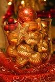 ваза стекла рождества шариков Стоковое Изображение