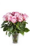 Ваза с розами Стоковые Изображения RF