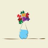 Ваза с цветками головоломки Стоковые Изображения RF