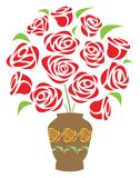ваза цветка иллюстрация вектора