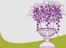ваза цветка иллюстрация штока