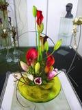 Ваза цветков, флористическое украшение Стоковая Фотография