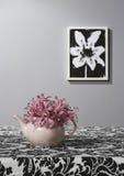 ваза чая бака пинка цветка чертежа Стоковая Фотография RF