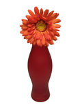 ваза orage цветка Стоковая Фотография