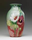 ваза rookwood hollyhock конструкции Стоковые Изображения
