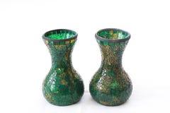 2 вазы мозаики зеленых Стоковое Изображение RF