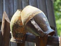 Вазы на загородке Стоковая Фотография RF