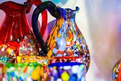 Вазы Murano и выпивая стекла Стоковые Фотографии RF