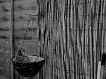 Вакантная пустая корзина смертной казни через повешение стоковые изображения rf