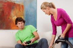 Вакуумировать и видеоигры Стоковое фото RF