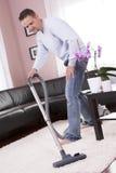 вакуум комнаты более чистой чистки живущий Стоковое Фото