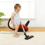 вакуум уборщика ребёнка Стоковые Фотографии RF