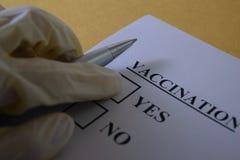 вакцинирование Стоковое Фото