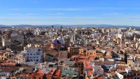 ВАЛЕНСИЯ, ИСПАНИЯ - 27-ОЕ НОЯБРЯ 2018: Исторический городской пейзаж как увидено от собора Валенсия, Ла Seu de València стоковое фото