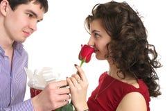 Валентайн влюбленности дня пар Стоковые Фото