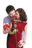 Валентайн влюбленности дня пар Стоковые Изображения RF