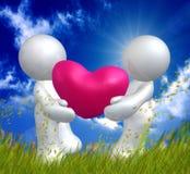 Валентайн влюбленности иконы иллюстрация штока