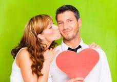 Валентайн влюбленности пар Стоковые Изображения