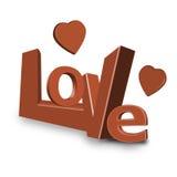 Валентайн влюбленности письма сердца красное романское Стоковое фото RF