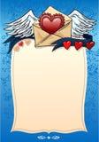 Валентайн влюбленности сердца исповеди предпосылки Стоковые Фотографии RF