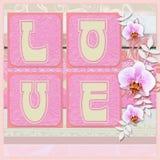 Валентайн влюбленности s дня карточки Стоковые Изображения