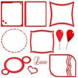 Валентайн влюбленности s рамки Иллюстрация вектора
