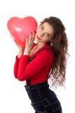 Валентайн девушки Стоковое Фото