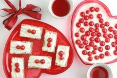 Валентайн десерта романтичное 2 Стоковая Фотография RF