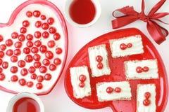 Валентайн десерта Стоковые Фотографии RF