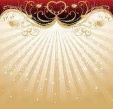 Валентайн дня золотистое s предпосылки Стоковая Фотография RF