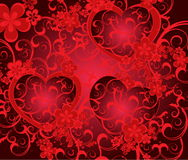 Валентайн дня предпосылки романтичное Стоковые Фото