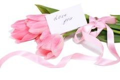 Валентайн дня приветствуя счастливое s карточки Стоковая Фотография