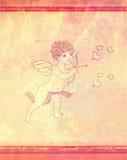 Валентайн дня счастливое s купидона карточки Стоковые Фото