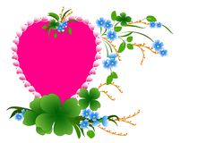 Валентайн дня счастливое s Любовь цветет сердце вектор стоковое изображение