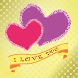 Валентайн дня счастливое s я тебя люблю Сердце цветка на предпосылке золота вектор стоковые изображения rf