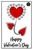 Валентайн дня счастливое s 14 Fabruary вектор знамени eps10 наслоенный архивом Карточка ` s валентинки с цветком сердца Стоковое Изображение RF