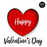Валентайн дня счастливое s 14 Fabruary Предпосылка вектора с сердцем Стоковое фото RF