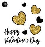 Валентайн дня счастливое s 14 Fabruary Предпосылка вектора с сердцем Стоковое Изображение RF