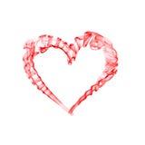 Валентайн дыма сердца дня красное Стоковое фото RF