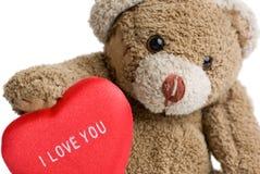 Валентайн игрушечного медведя s Стоковые Изображения RF