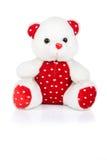 Валентайн игрушечного st медведя Стоковые Фото