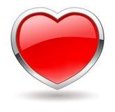 Валентайн иконы сердца глянцеватое иллюстрация штока