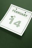 Валентайн календарного дня s Стоковое Изображение RF