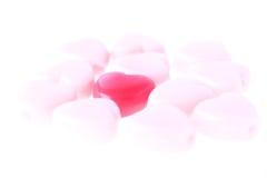 Валентайн красного цвета влюбленности сердца Стоковые Изображения