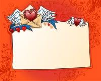 Валентайн красного цвета влюбленности h исповеди предпосылки Стоковое Изображение
