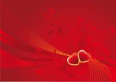 Валентайн красного цвета предпосылки Стоковое фото RF