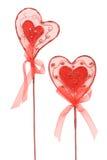 Валентайн красного цвета сердец пар Стоковые Изображения RF